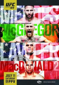 UFC 189 Updated Poster