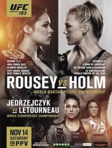 UFC 193 Poster