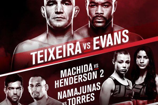 UFC on FOX 19: Teixeira vs  Evans TV schedule, broadcast